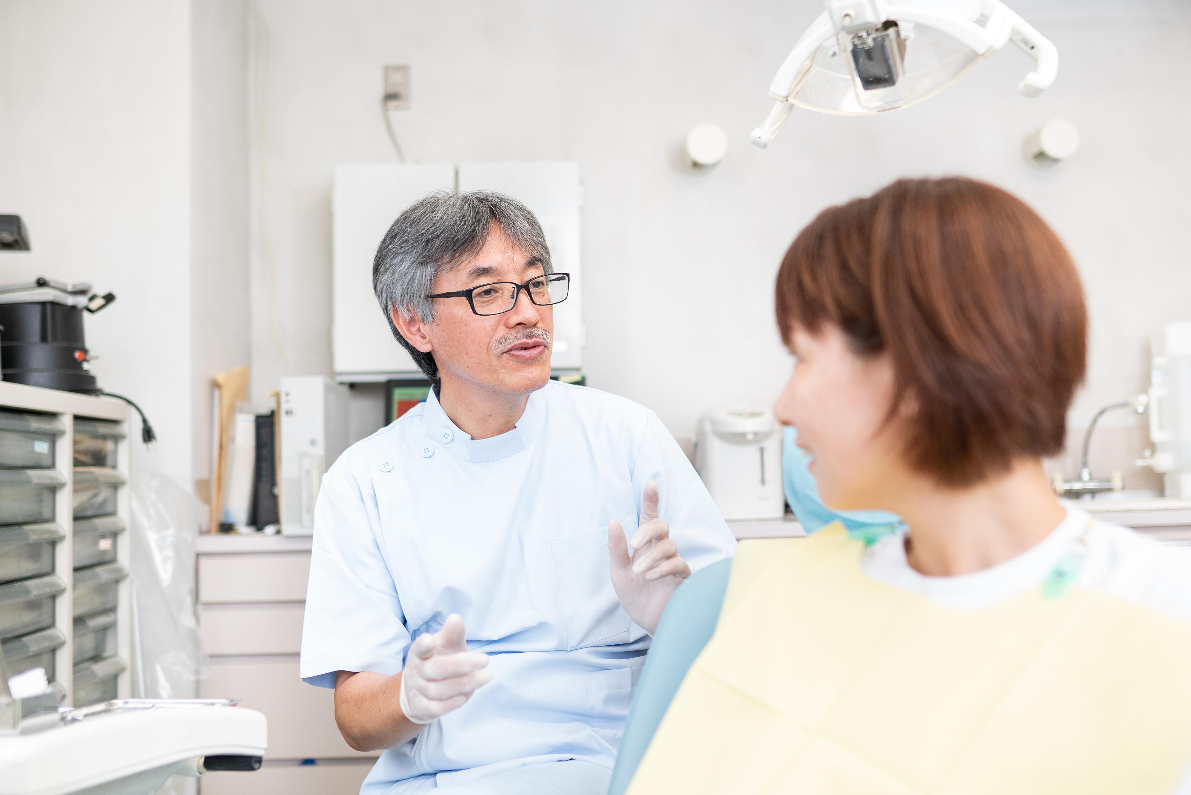問診風景 相馬市の菅野歯科医院